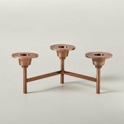 Metal 3ct Taper Candelabra Copper Finish - Hearth & Hand™ with Magnolia