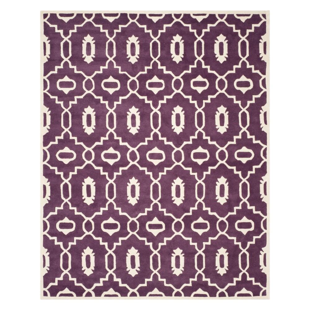 8'X10' Geometric Area Rug Purple/Ivory - Safavieh