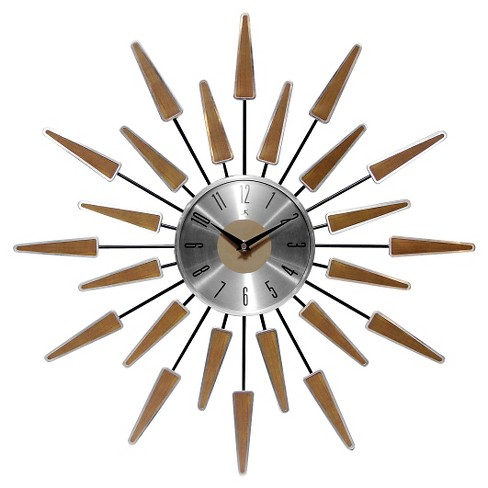 Satellite Wall Clock Brown/Silver - Infinity Instruments® - image 1 of 1