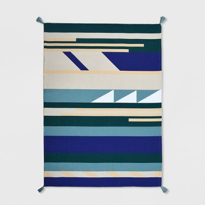5' x 7' Montana Stripe Outdoor Rug Blue - Project 62™