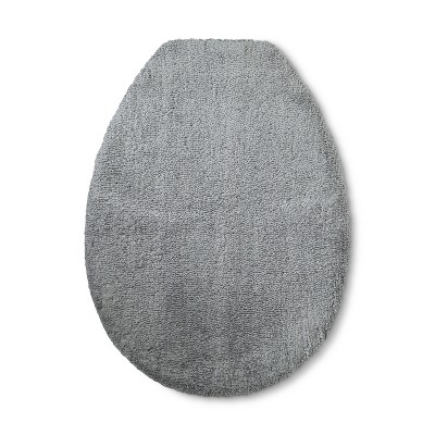 Tufted Spa Toilet Lid Cover Elongated Gray - Fieldcrest®