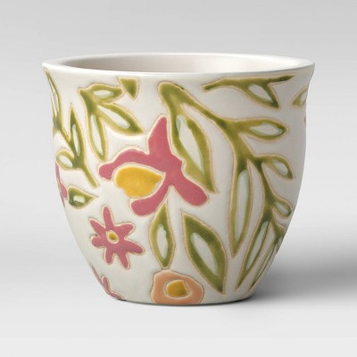 6  Spring Earthenware Floral Planter - Opalhouse™