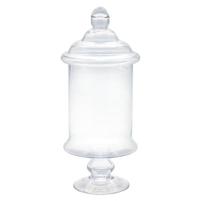 Diamond Star Glass Apothecary Jar with Lid Clear (15 x6.5 )