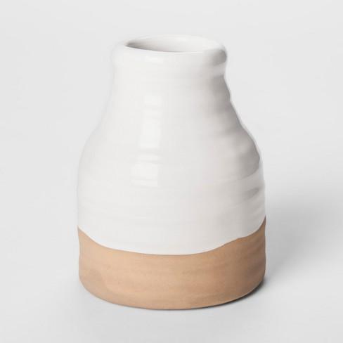 Stoneware Vase Short White Threshold Target