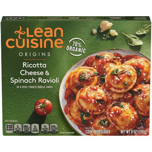 Lean Cuisine Marketplace Frozen Ricotta Cheese and Spinach Ravioli - 8oz - image 1 of 4