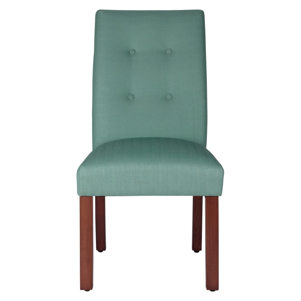 Image of Set of 2 Kristin Tufted Dining Chair Aqua Textured - HomePop