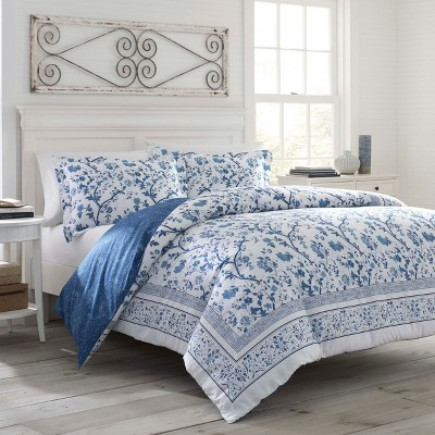 Charlotte Duvet Cover Set Blue - Laura Ashley
