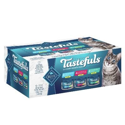 Blue Buffalo Tastefuls Flaked Tuna Chicken &  Shrimp Entrees In Gravy Premium Wet Cat Food - 3oz/12ct