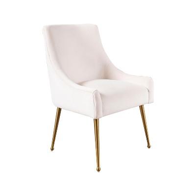 Beverly Velvet Dining Chair Ivory - Abbyson Living