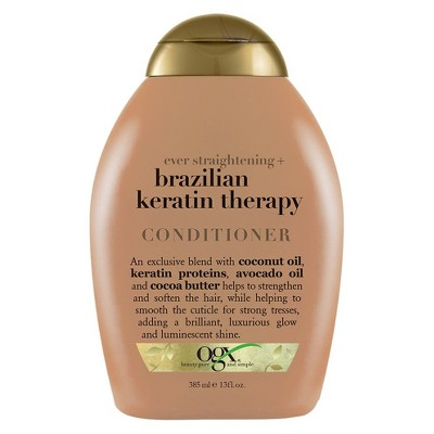 Shampoo & Conditioner: OGX Brazilian Keratin Therapy