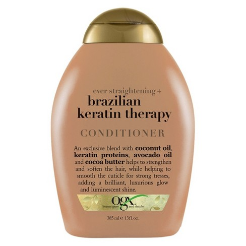 OGX Ever-Straight Brazilian Keratin Therapy Conditioner 13 oz. - image 1 of 4
