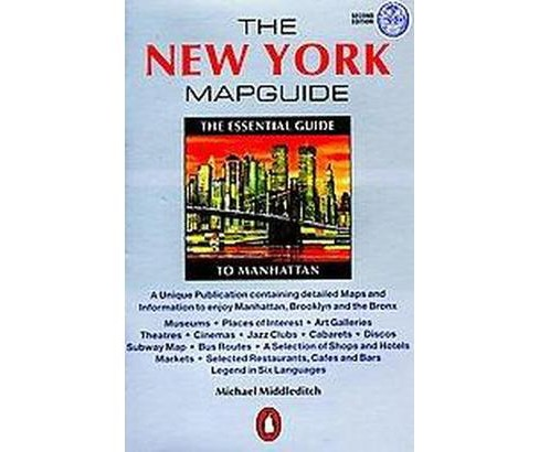 New York Map Guide : The Essential Guide to Manhattan (Paperback) (Michael Middleditch) - image 1 of 1