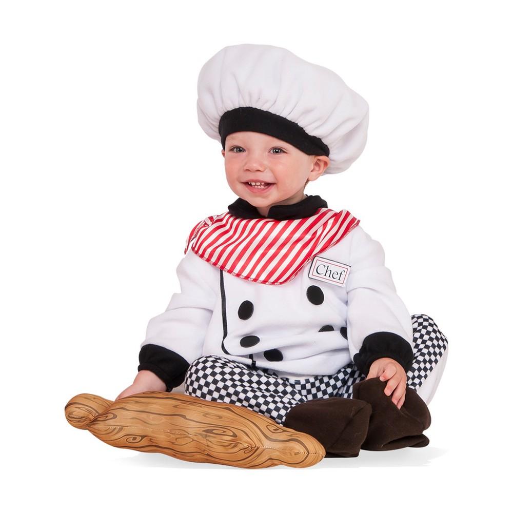 Toddler Boys' Little Chef Halloween Costume 2T/4T - Rubie's, Size: 2T-4T, White/Black