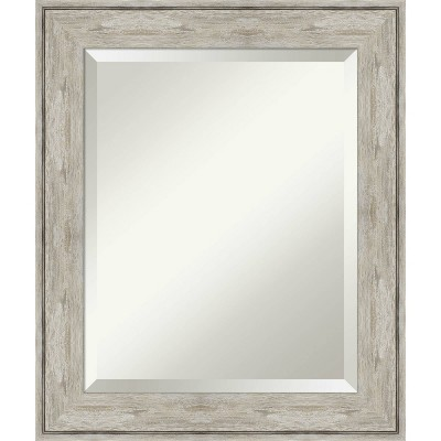 "21"" x 25"" Crackled Framed Bathroom Vanity Wall Mirror Metallic - Amanti Art"