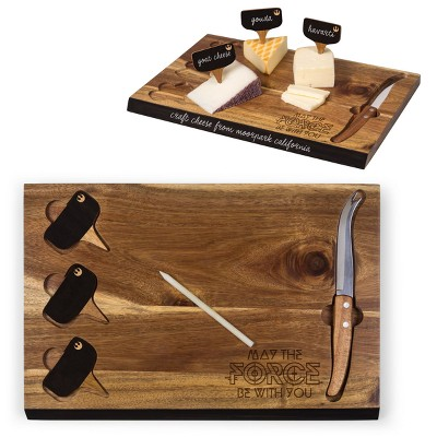 Star Wars Rebel Delio Acacia Cheese Board with Tool Set by Picnic Time