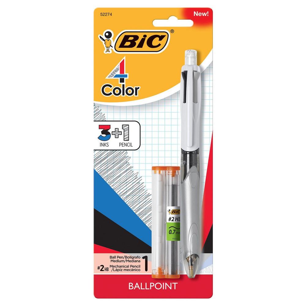 Bic 4 Color Pen with Pencil, Multi-Colored