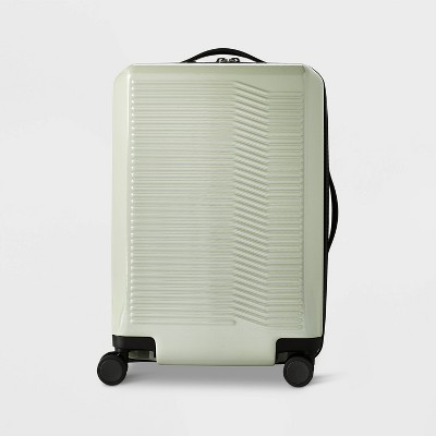 "Hardside 21"" Carry On Suitcase Sage Green - Open Story™"