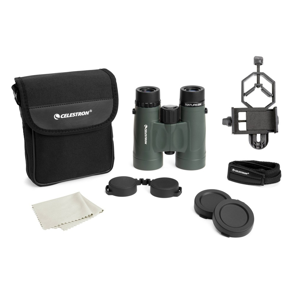 Image of Celestron Nature DX 8x42 Binocular with Basic Smartphone Adapter - Black