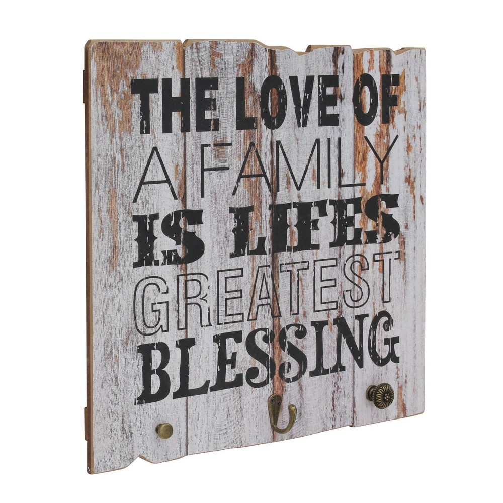 """Image of """"Rustic Wooden Painted """"""""Love of Family"""""""" Decorative Wall Art Gray - Stonebriar Collection"""""""