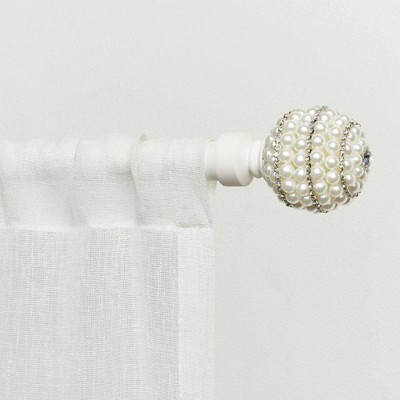 """36""""-72"""" Adjustable Diana Curtain Rod and Finial Set - Exclusive Home"""