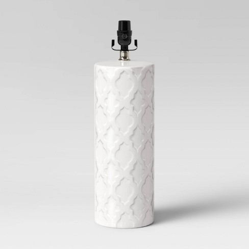 Lattice Ceramic Large Lamp Base Cream - Threshold™ - image 1 of 2