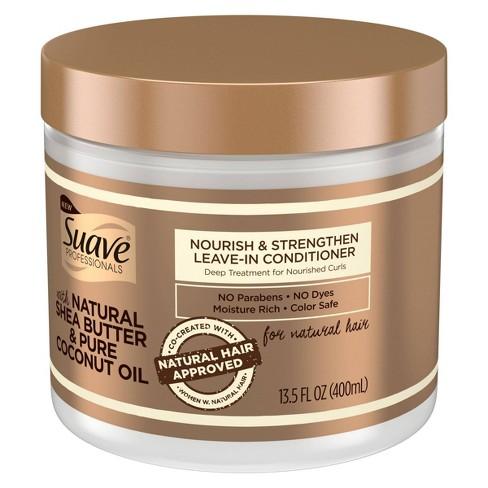 Suave Professionals Natural Shea Butter & Pure Coconut Oil Leave-In  Conditioner - 13 5 fl oz