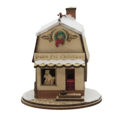 """Ginger Cottages 4.0"""" Paws For Christmas Pet Shop Wreath Teddy Bear  -  Tree Ornaments"""