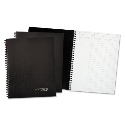 Cambridge Limited Action Planner Business Notebook Plus Pack 9 1/2 x 7 1/4 Black 80 Sheet 3/PK 45016