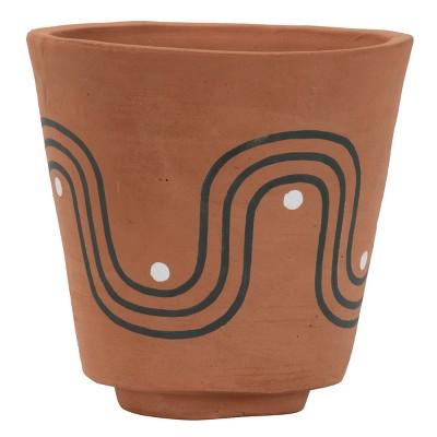 Natural Handthrown Terracotta Boho Planter - Foreside Home & Garden
