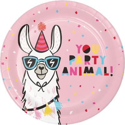 10ct Llama Dinner Paper Plates - Spritz™