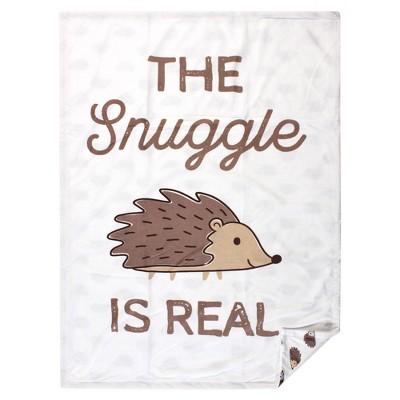 Hudson Baby Unisex Baby Plush Mink Blanket - Hedgehog One Size