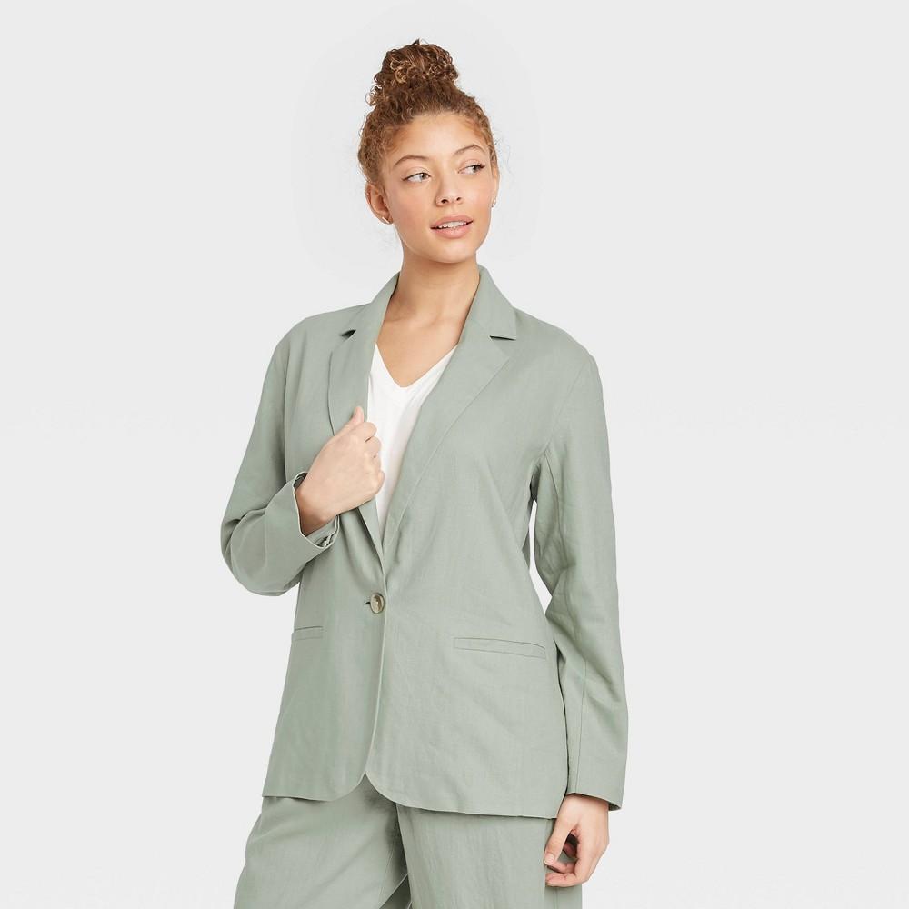 Women 39 S Blazer A New Day 8482 Green Xs