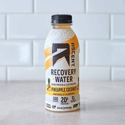 Ascent Protein Recovery Water - Pineapple Coconut - 12pk/202.8 fl oz