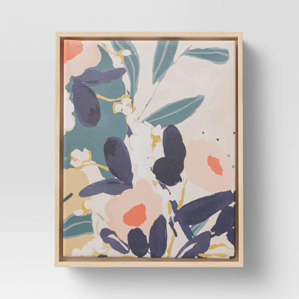 Image of Floral Framed Wall Canvas - Opalhouse