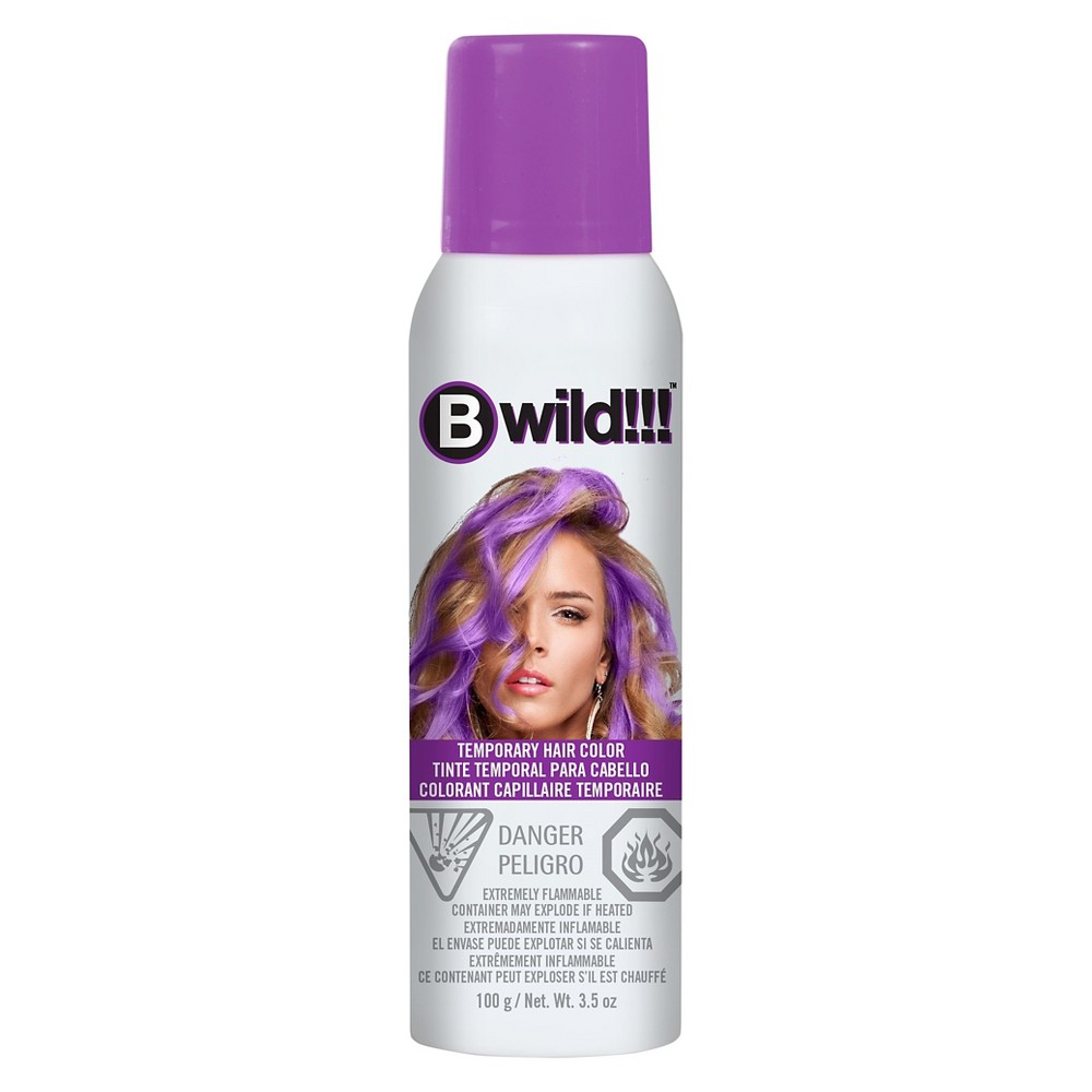 Image of Jerome Russell B wild Temporary Hair Color Spray Purple - 3.5oz