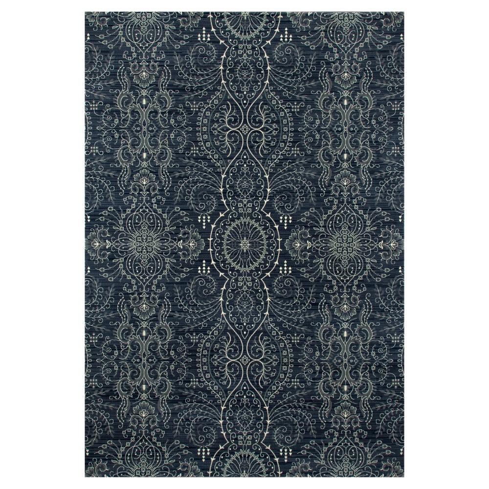 Blue Abstract Woven Area Rug - (8'X12') - Art Carpet