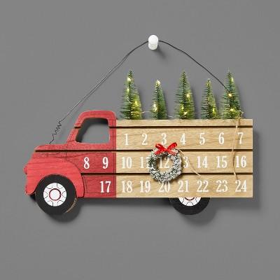 Lit Truck Hanging Advent Calendar - Wondershop™