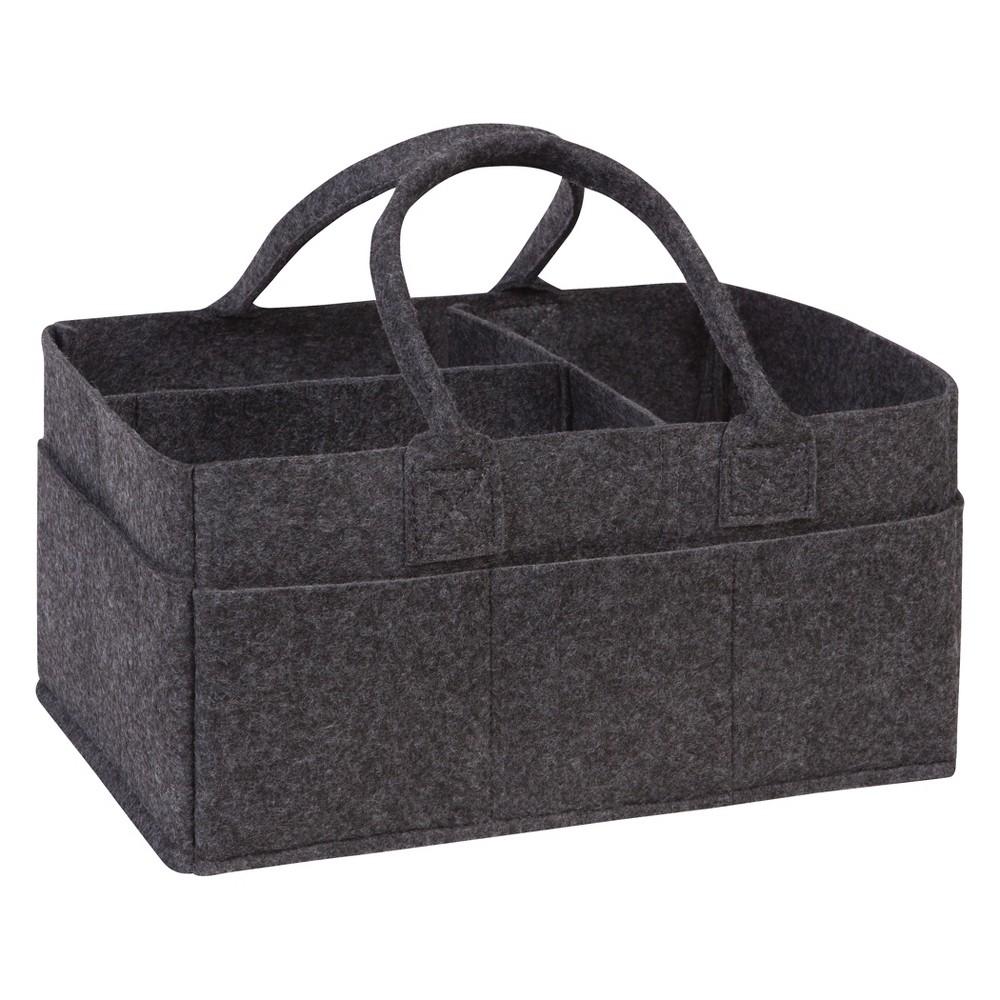 Trend Lab Felt Storage Caddy Charcoal Gray