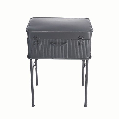 Devon Suitcase Side Table Charcoal - Foreside Home and Garden - image 1 of 3