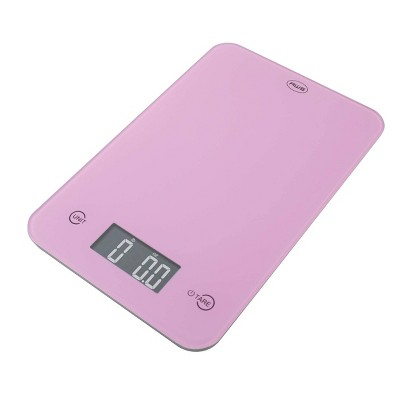 American Weigh Scales Onyx-5K Tempered Glass Kitchen Scale Pink