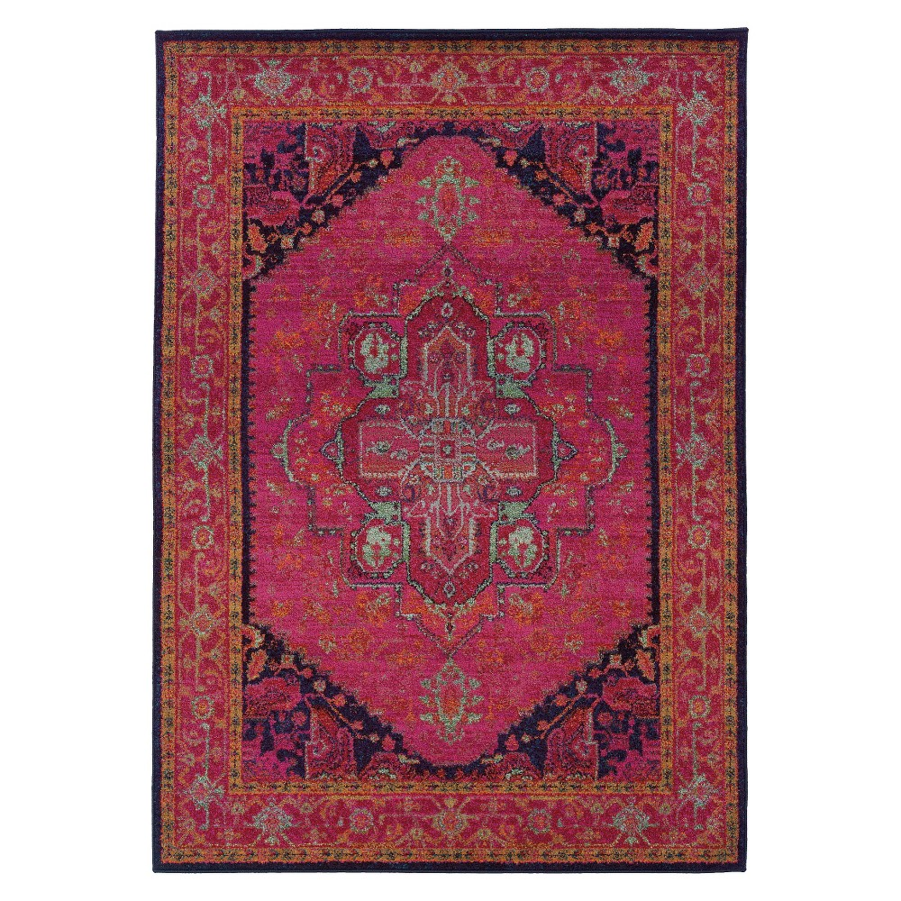 4'X6' Shapes Area Rug Pink
