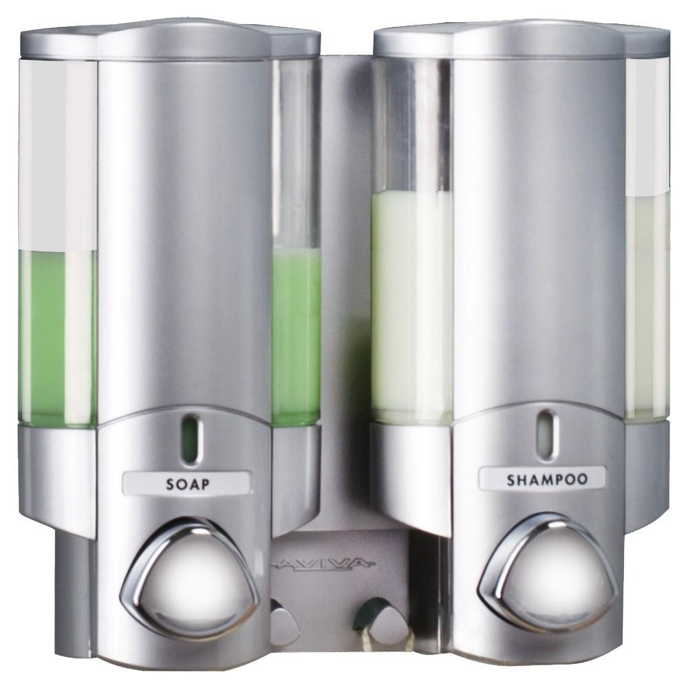 Image of Better Living Products Aviva Two Chamber Dispenser - Satin Silver