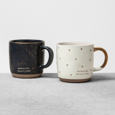 2pk Mug Hello Handsome / Hello Beautiful - Hearth & Hand™ with Magnolia