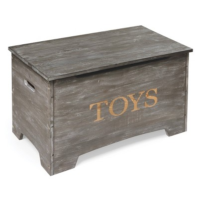Solid Wood Rustic Toy Box - Badger Basket