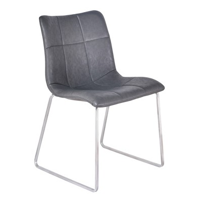 Set of 2 Armen Living Hamilton Contemporary Dining Chair Vintage Gray