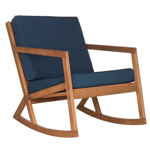 Vernon Rocking Chair Natural Navy, Outdoor Rocking Chair Cushions Target
