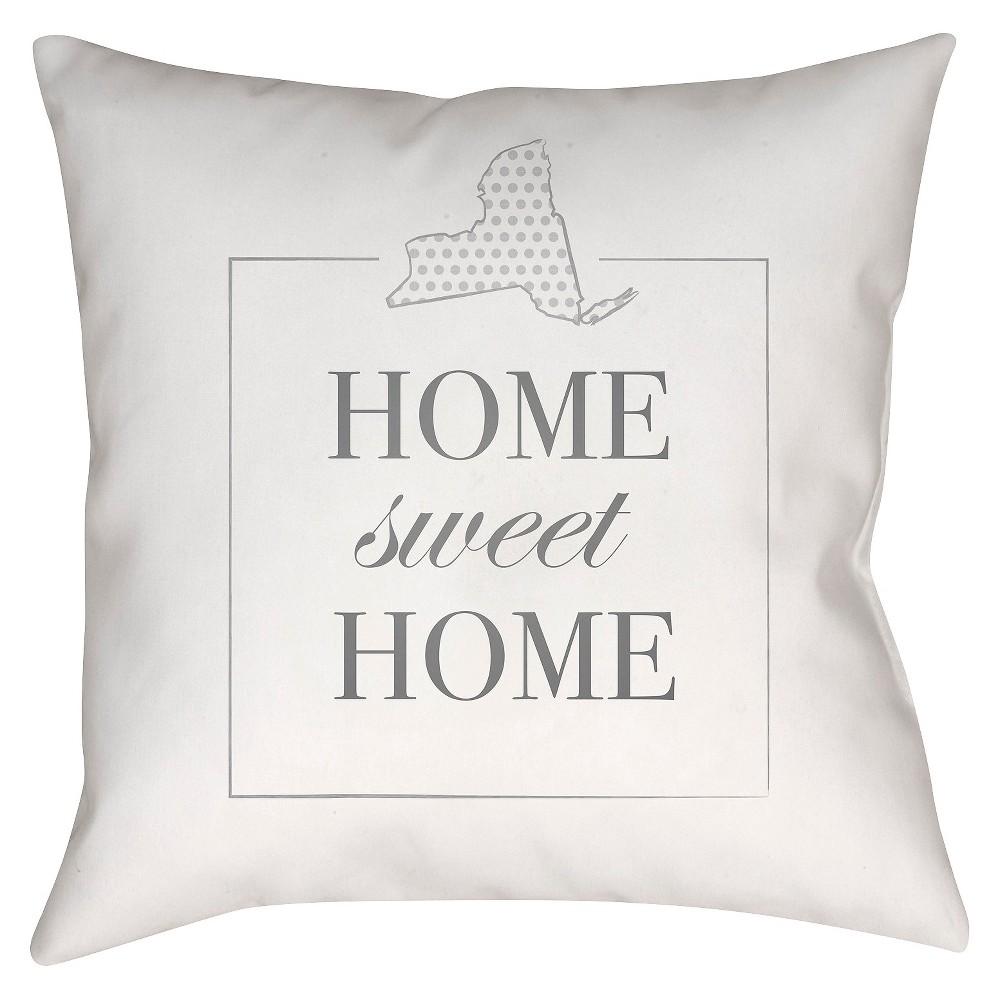 White Housewarming New York Throw Pillow 18