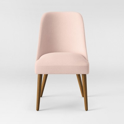 Geller Modern Dining Chair Blush/Chestnut - Project 62™