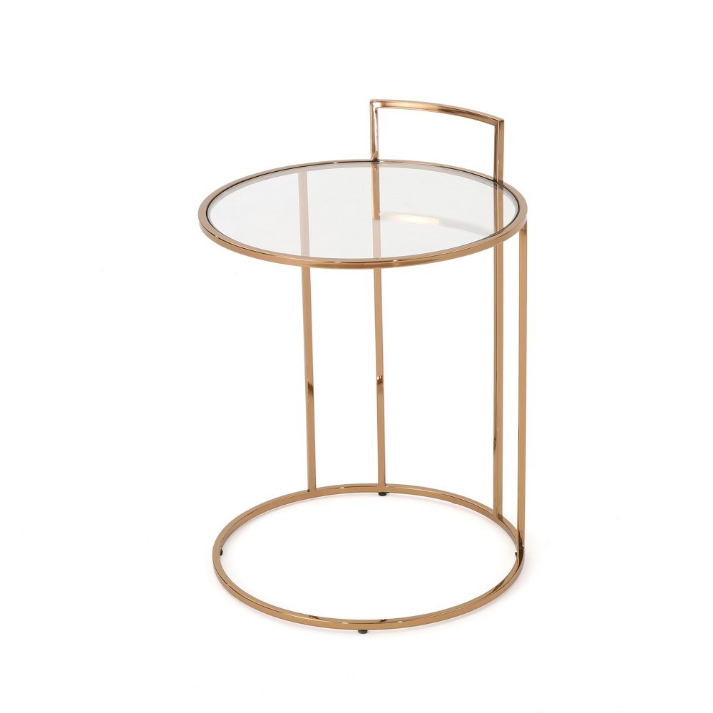 Isolde Glam Side Table Rose Gold - Christopher Knight Home