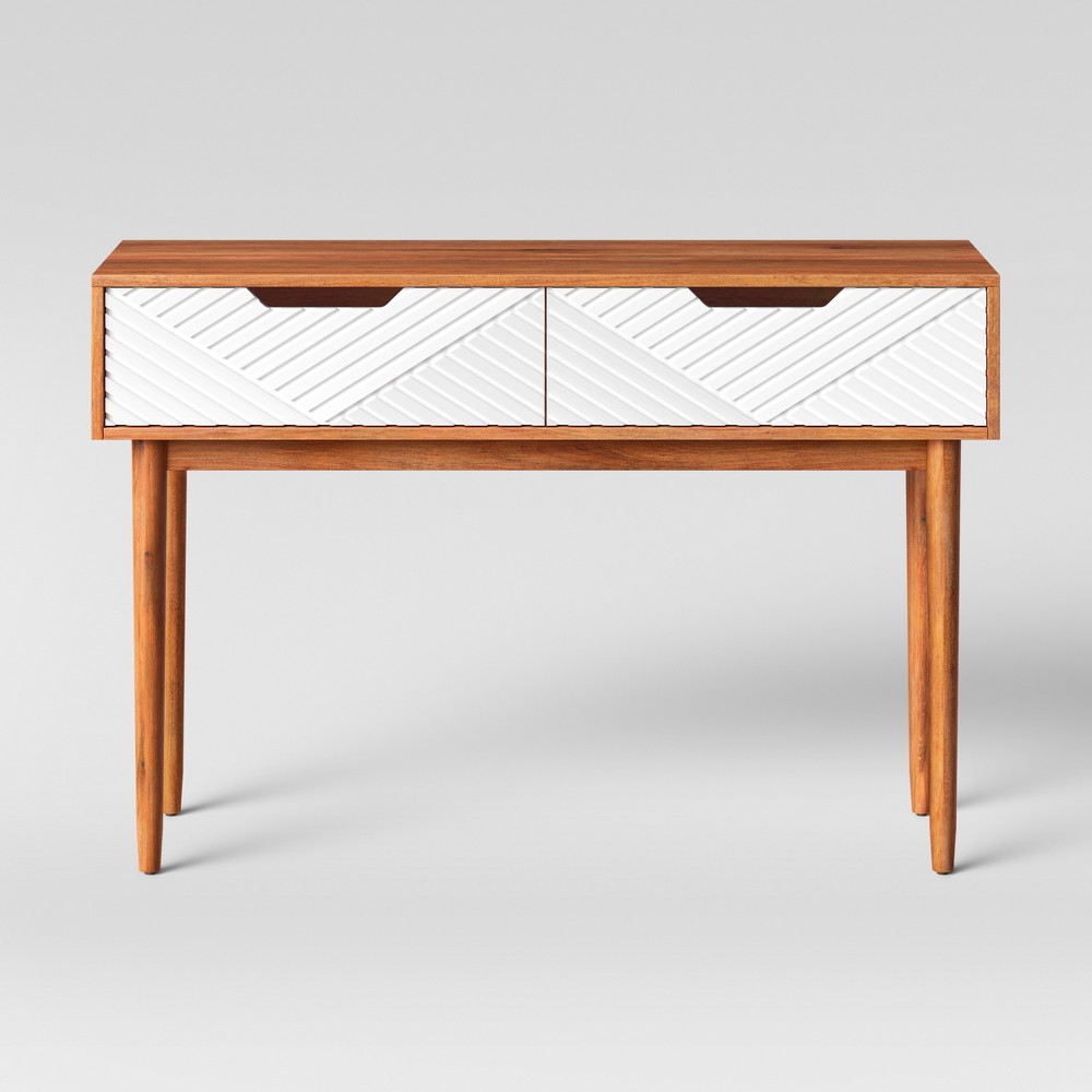 Touraco Console Table Brown/White - Opalhouse